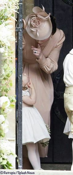 Duchess of Cambridge with Charlotte at Pippa's wedding