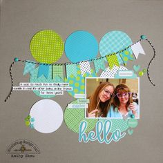 Mix & Match Challenge: Hello Layout by Kathy