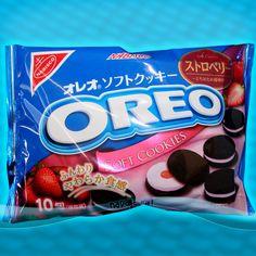 Japan OREO STRAWBERRY Ichigo SOFT COOKIES rare Japanese Candy Nabisco NEW #Oreo #Candy <3_<3 OMG