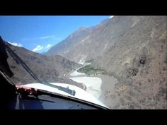 Landing in the Andes. On older videos you see the threshold wasn't displaced before, but this pilot doesn't need that. Also he didn't need to fly so close to the mountains, he just likes it.