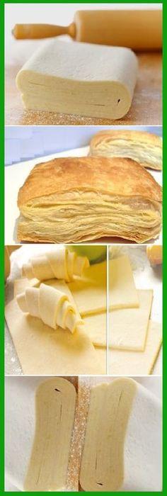 Les Comparto Cómo hacer Hojaldre casero fácil. #hojaldre #comohacer #facil #pancasero #comohacer #lomejor #masa #tachnift #bread #breadrecipe #pan #panfrances #pantone #panes #pantone #pan #receta #recipe #casero #torta #tartas #pastel #nestlecocina #bizcocho #bizcochuelo #tasty #cocina #chocolate Si te gusta dinos HOLA y dale a Me Gusta MIREN … Pan Bread, Bread Baking, Mexican Food Recipes, Sweet Recipes, Bread Recipes, Cooking Recipes, Venezuelan Food, Sweet Dough, Salty Foods