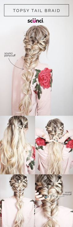 KASSINKA Topsy Tail Braid Hair Tutorial with Scunci @scunci
