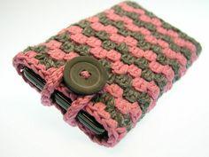 Handytasche iPhone grau rosa von www.Schmuckkistl.de auf DaWanda.com