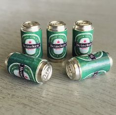 Beer Cans Set Miniature for your dolls House decoration.  Quantity :1 /2/5pcs. Scale: 1/12 Height 1.5cm. Diameter 0.8cm.  ---- Payment Policy ---- Payment is due immediately upon purchase using Paypal Account  ---- Shipping Policy ---- - The item will be shipped worldwide by Standard Airmail Service via Thailand Post. - The item will be shipped within 1-3days of received clearly payment. - The item will be protected for shipment by bubble wrapping. - It takes approximately 14-2...