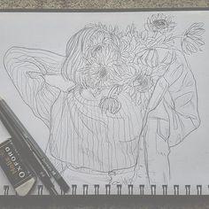 (@BEARZAAR) on Instagram: Sunflowers~