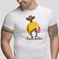 a31676e34 Taco-holic Funny T-Shirt Mexican Taco Lover Humour Mens and Ladies Sizes  Avail