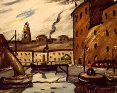"""LOUIS MATHIEU VERDILHAN (French, 1875-1928) - """"Marseille, Port et les Accoules"""""""