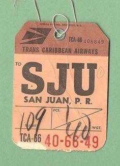 Trans Caribbean Airlines - SJU San Juan, PR - 1967 | Flickr - Photo Sharing!