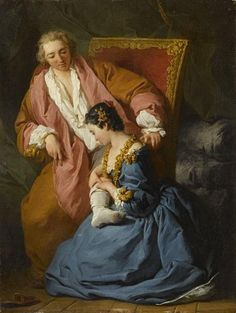 Pierre-Hubert Subleyras (1699-1749), La courtisane amoureuse / Loving courtesan © RMN-Grand Palais. Louvre Museum.