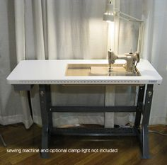 Sew Perfect sewing table - height adjustable (great for short folks like me) and made in USA!