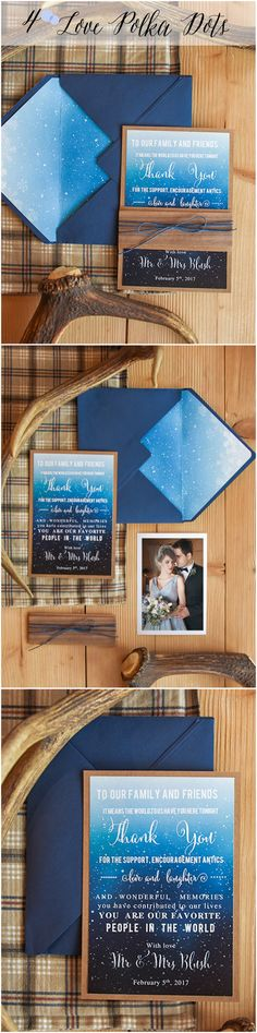 I love this for an evening wedding invitation