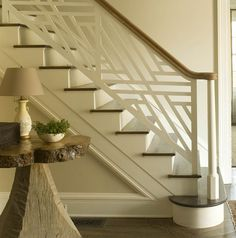 Staircase baseboards.