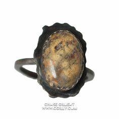Leopard Jasper Ring, Patina. Click to Buy.