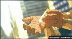 UHU - Powerful adhesive bar, very adhesive - Spiderman - #heroes