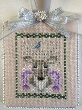 Finished Completed Cross Stitch Ornament Just Nan Oh Deer