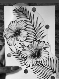 Flower Thigh Tattoos, Sunflower Tattoos, Leg Tattoos, Tatto Floral, Simple Tattoo With Meaning, Family Tattoo Designs, Hibiscus Tattoo, Stylist Tattoos, Half Sleeve Tattoos For Guys