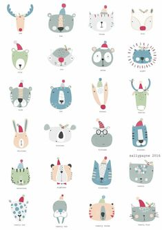 Illustration and surface pattern Illustration Inspiration, Cute Illustration, Motifs Textiles, Doodles, Kids Prints, Illustrations And Posters, Animal Illustrations, Cute Characters, Doodle Art