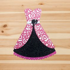 Barbie Dress Invitation Pop Up Silhouette Custom Desinged by InkSpireVe with Premium Cardstock and Glitter Cardstock by Inkspireve on Etsy