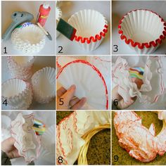 Cottage Frameworks: Coffee Filter Christmas Wreath