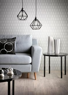 ideas living room grey wallpaper lamps for 2019 House Interior, Home Deco, Living Room Grey, Grey Wallpaper, Home Decor, Home And Living, Scandinavian Wallpaper, Wallpaper Living Room, Home Living Room