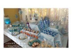 #Frozen #Birthday #Party #Dessert #Table #CaramelApples #Cake #Jello #Cookies #Juice #MarshmallowPops #Custom #Events #LasVegas #Henderson #Nevada #noveldesigns