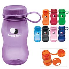 Bubble Bottle - 21 oz. removeable splash guard with straw opening.