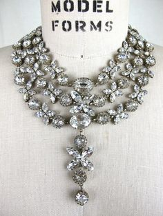 1920s French wedding necklace,  Tova's Vintage Shop