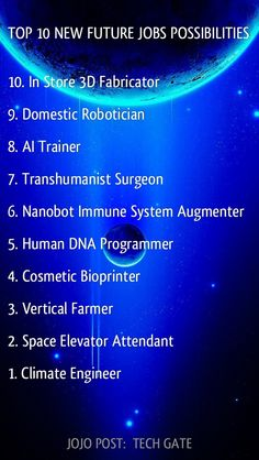 12 Jobs Of The Future Ideas Future Technology Science And Technology Job