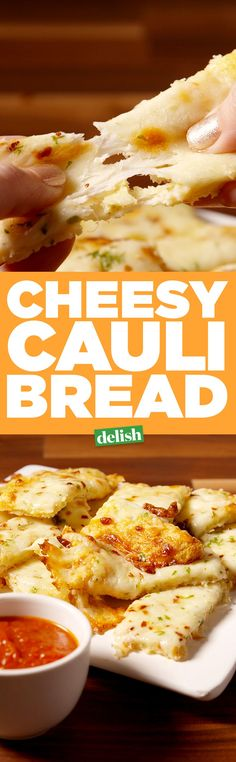 This Cheesy Cauli Bread is the carb fix you don't have to feel bad about. Get the recipe from Delish.com.