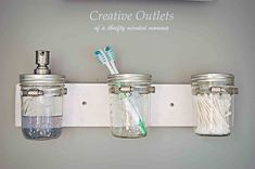 Marvelous Mason Jar DIYs to Spruce Up Your Home. I could put it in the kitchen And use it for cleaning materials.