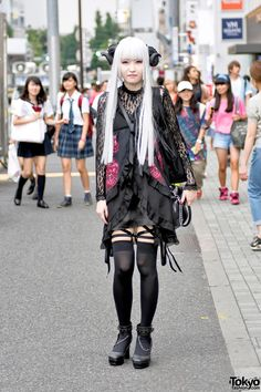 Harajuku Girl With Horns & Gothic Fashion by Nude N' Rude & Metamorphose Temps de Fille