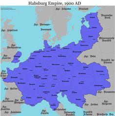 Habsburg Empire 1900 AD
