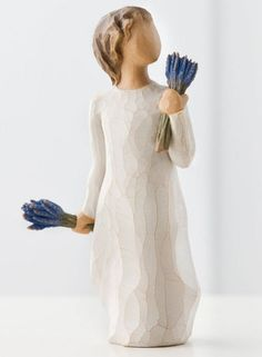 "Willow Tree Lavender Grace figurine.... ""May all your senses be filled with healing grace"""