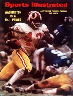 Click the button below to add the Sports Illustrated Magazine November 6 1972 Larry Brown Washington Redskins to your wish list. Arena Football, Redskins Football, Redskins Fans, Redskins Players, Football Wall, Football Players, Redskins Super Bowl, Americana Retro, Si Cover