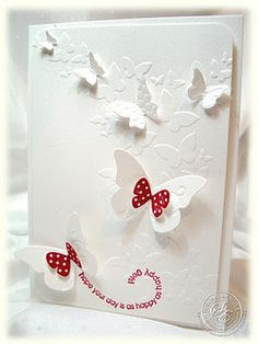 StitchyStamper: Butterfly Kisses - Birthday Card for Mum 2012............