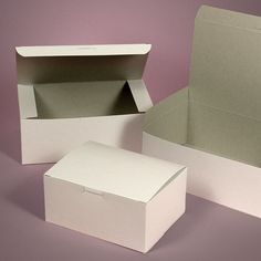 Small White Easy Set-Up Pastry Boxes  www.papermart.com