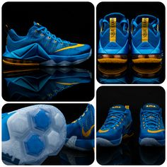 0a5156179af The picture-perfect Nike LeBron 12 Low  Photo Blue.  Quit staring and