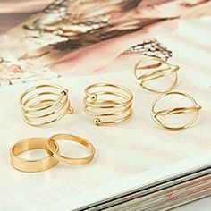 Sale! 6pc G.P. Finger Joint Knucle Midi Ring Set