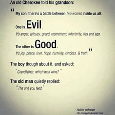 The great battle between good and evil