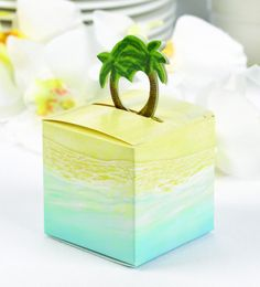 Palm Tree Pop-Up Wedding Party Favor Boxes (Pack of 25)