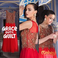 What are you going to wear #Grace or #Guilt. Both pretty! #Celebration #Wear for Women from manya patil seth
