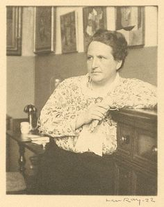 Gertrude Stein * 1922 photo Man Ray