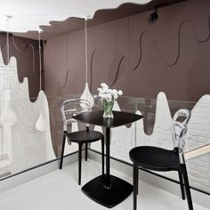 Cafe with chocolate dripping down the walls in Poland by Bro.Kat.