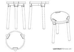 Latch Stool le tabouret par Christian Juhl Stool, Christian, Arts, Designer, Projects, Furniture, Home Decor, Stools, Chairs