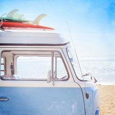 Vacances, plages, van et soleil