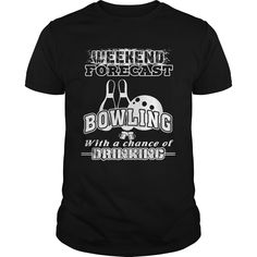 Bowling T Shirt Weekend Forecast With A Change Of Drinking bowling alley, bowling quotes football season, cheesy bowling quotes Bowling Quotes, Bowling Tips, Bowling Party, Drinking Shirts, Drinking Jenga, Bowling Outfit, Bowling T Shirts, Mens Fitness, Funny Shirts