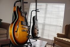 Epiphone Ultra 339 and Epiphone Jr. I call them Wilma and Lucinda. Two of the prettiest girls I know.