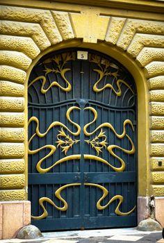 Art Nouveau Door in Budapest, Hungary