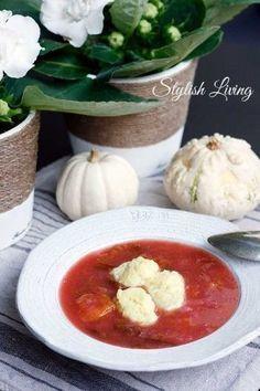 Pflaumensuppe mit Grießklößchen - Recipe (german) plum soup with semolina dumplings