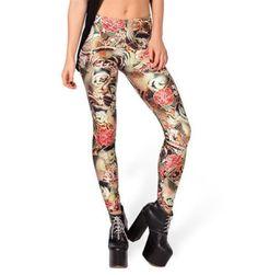 JJHDQ Women Leggins Festival 3D Digital Print Autumn Winter Slim Legging
